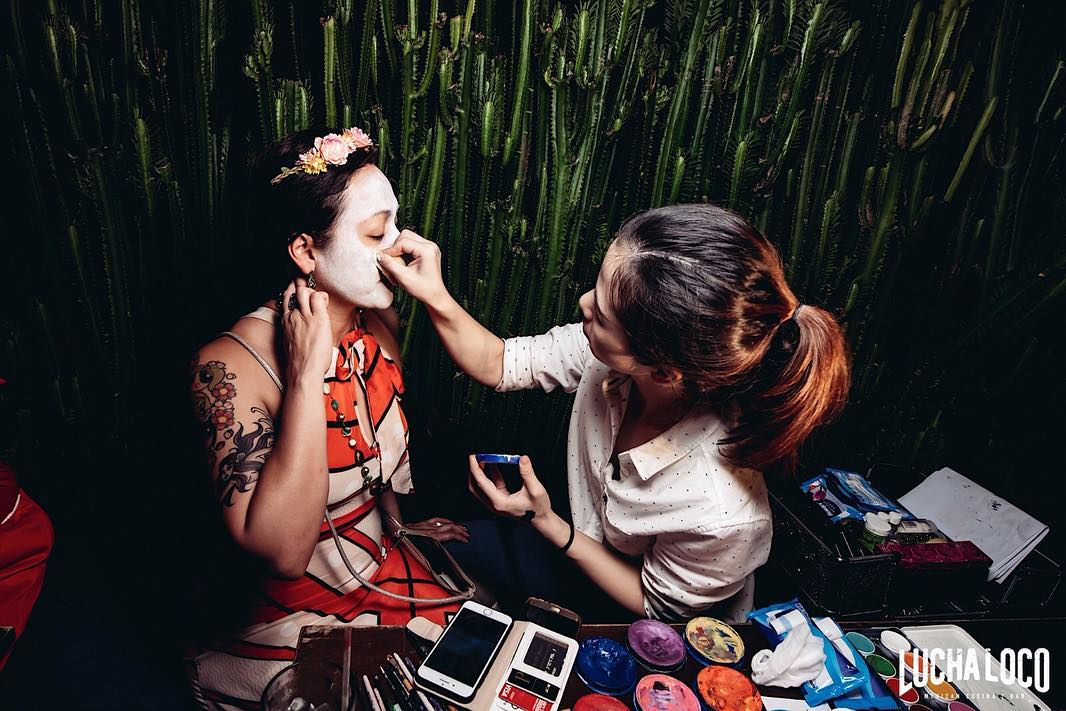 halloween events in singapore - lucha loco sugar skull face painting