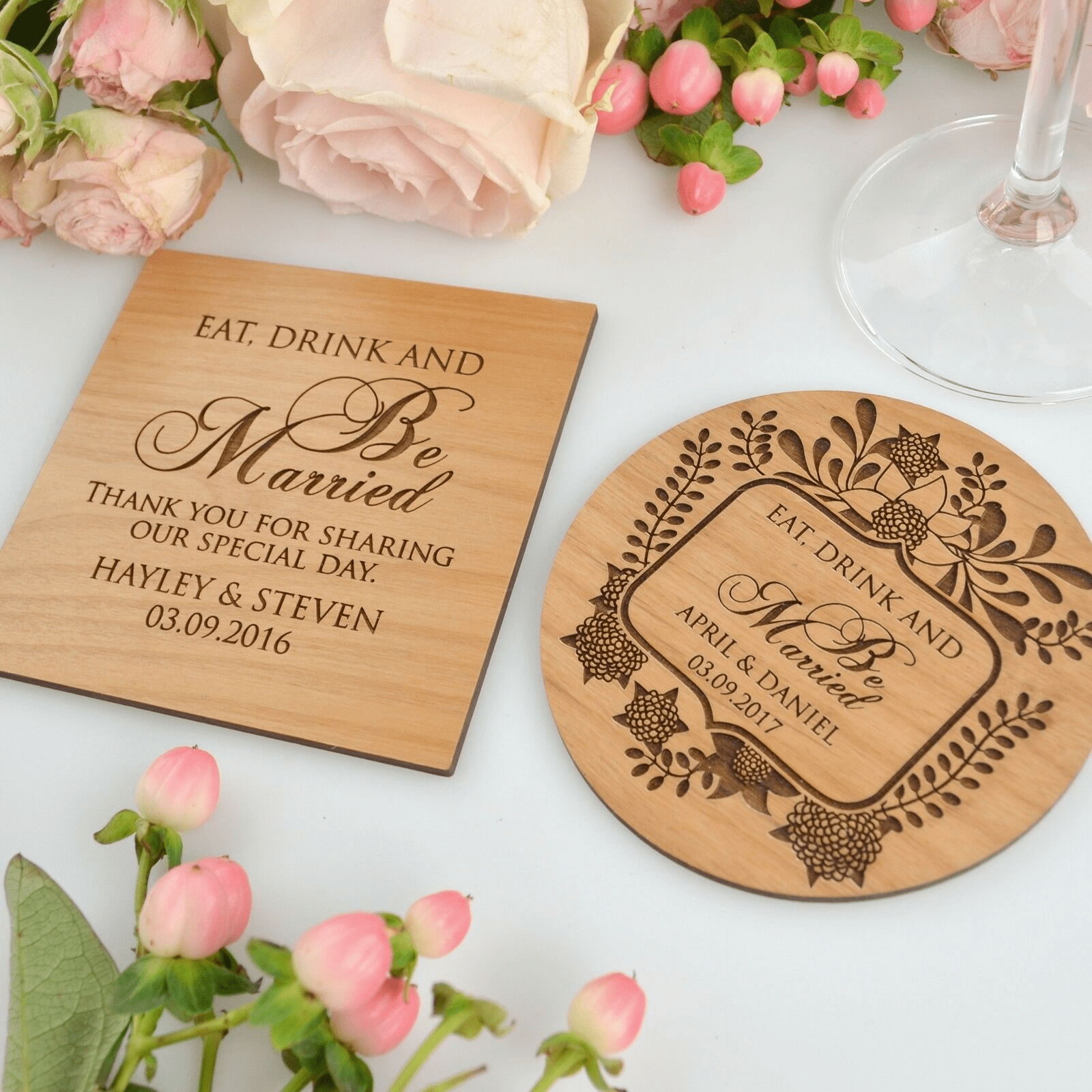 wedding favours Singapore coaster