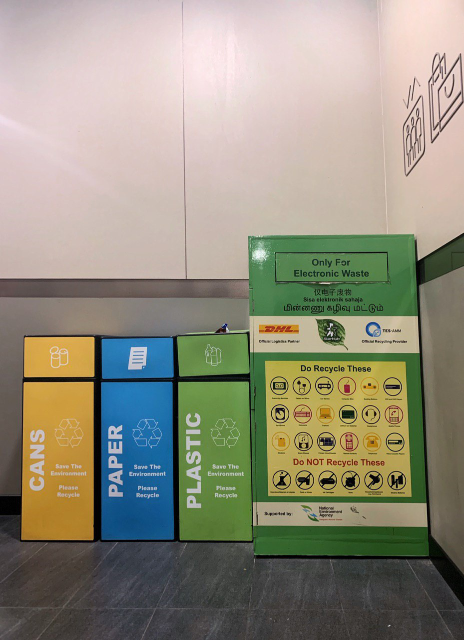 Guide to Recycling Singapore e-waste cans paper plastic bin