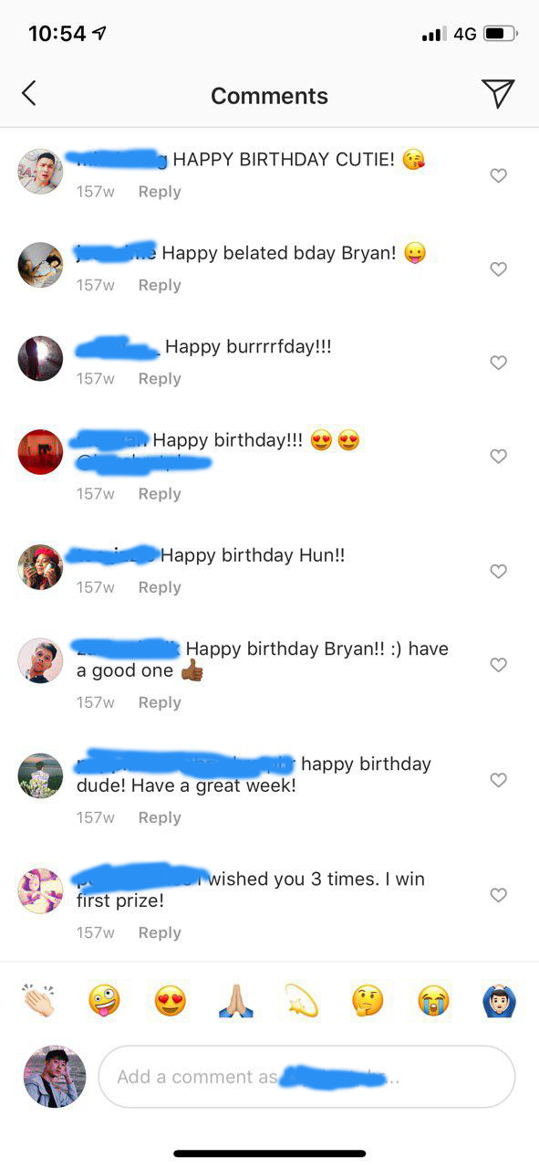 birthday wishes on Instagram