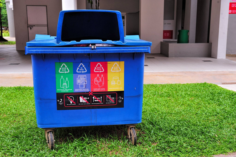 Guide to Recycling Singapore Blue recycling bin