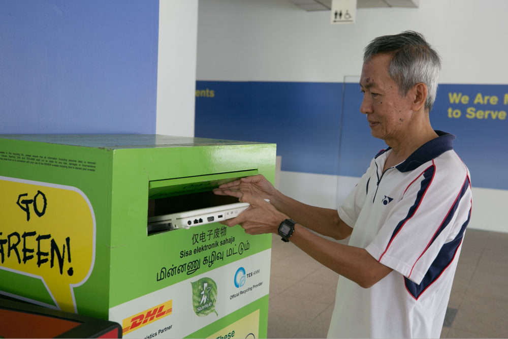Guide to Recycling Singapore E-waste bin