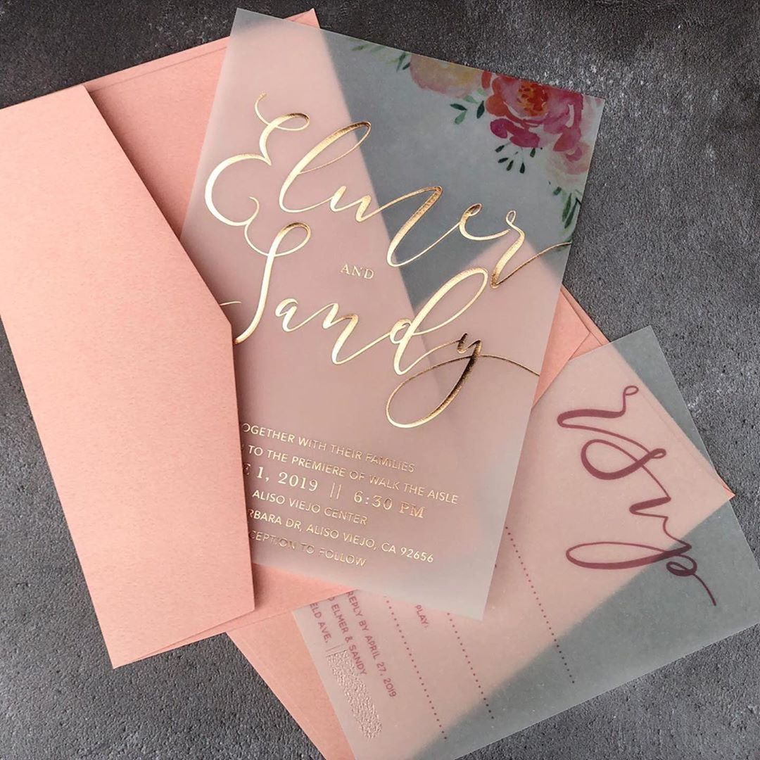 wedding invitations Singapore calligraphy