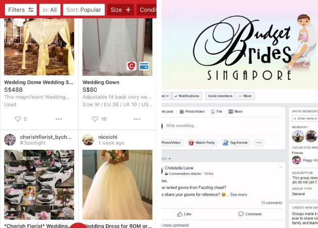 carousell budget brides facebook