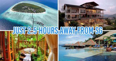 kota kinabalu resorts and hotels - collage of pom pom island resort, kokol haven resort, bungaraya island resort, guyana marine resort