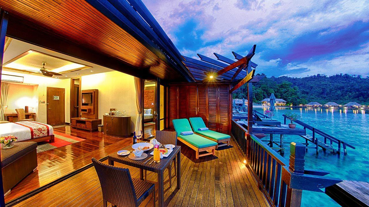 kota kinabalu resorts and hotels - guyana marine resort private deck