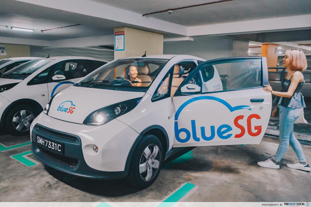 BlueSG car park