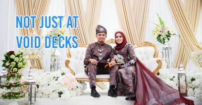 malay wedding - cover image sitting on wedding dais