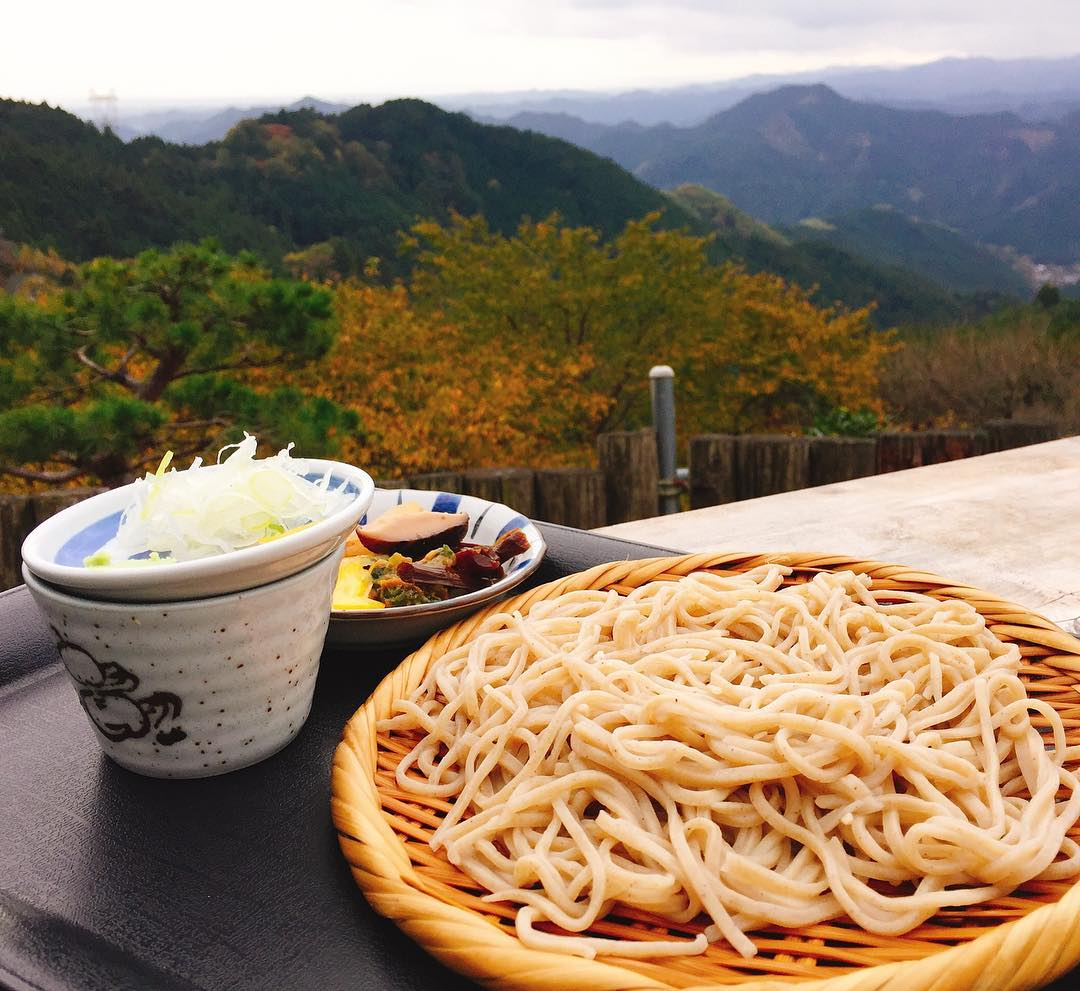 mountains tokyo hike cold soba
