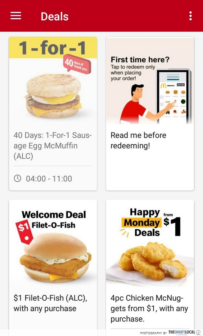 october 2019 deals mcdonalds app