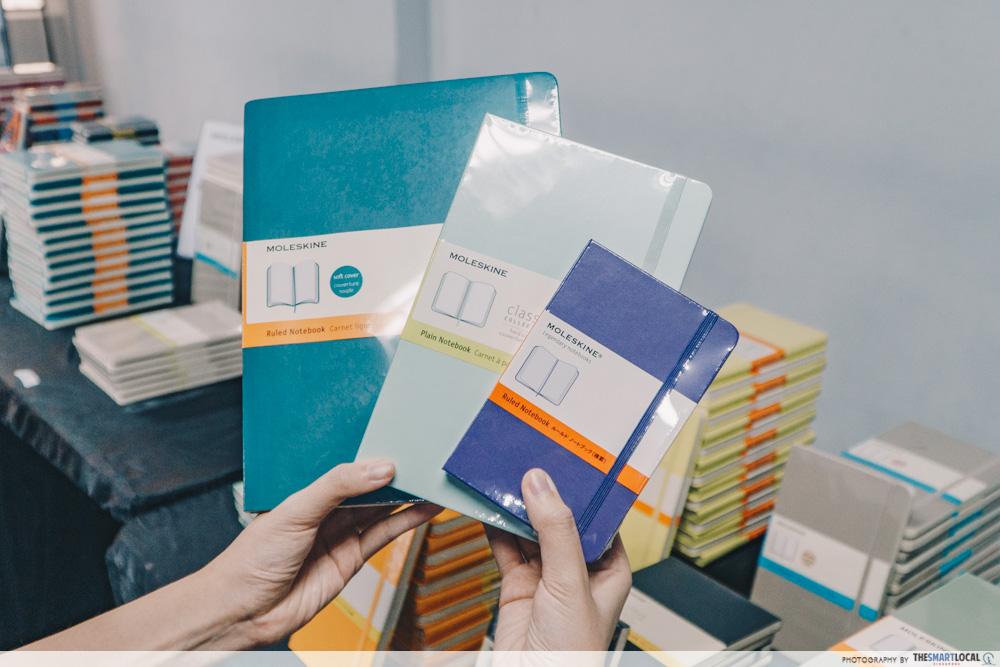 moleskine 3 notebooks