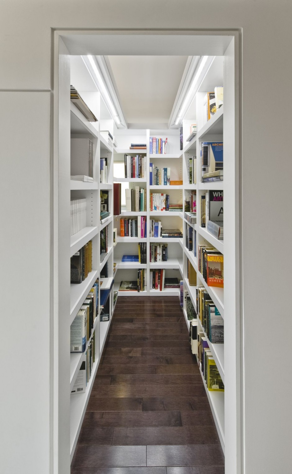 walk-in home library