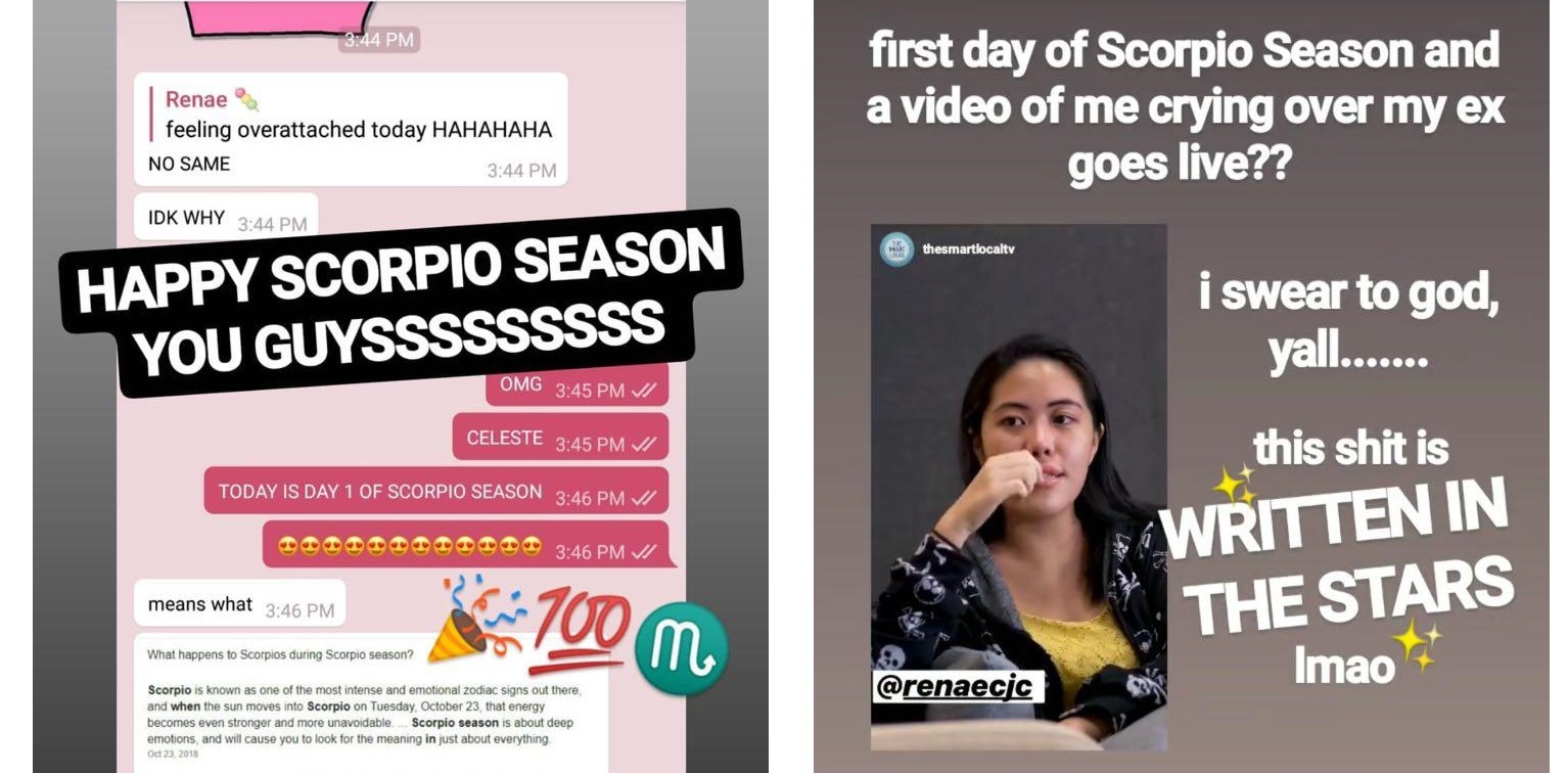 IG stories - horoscopes