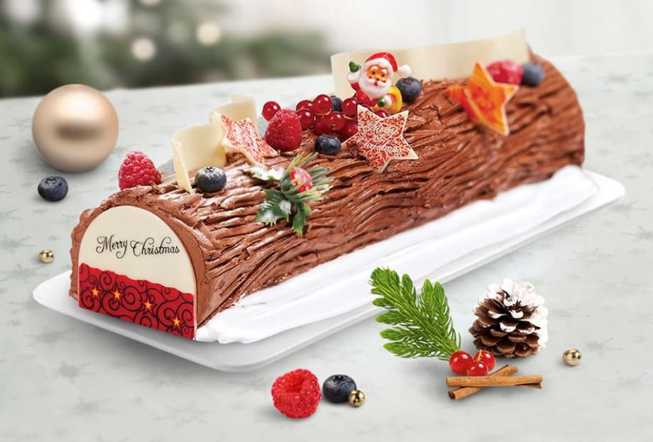 primadeli christmas log cake