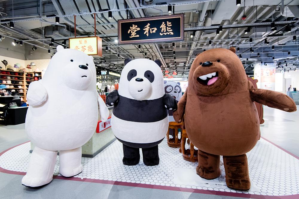 We Bare Bears Meet & Greet Mascots