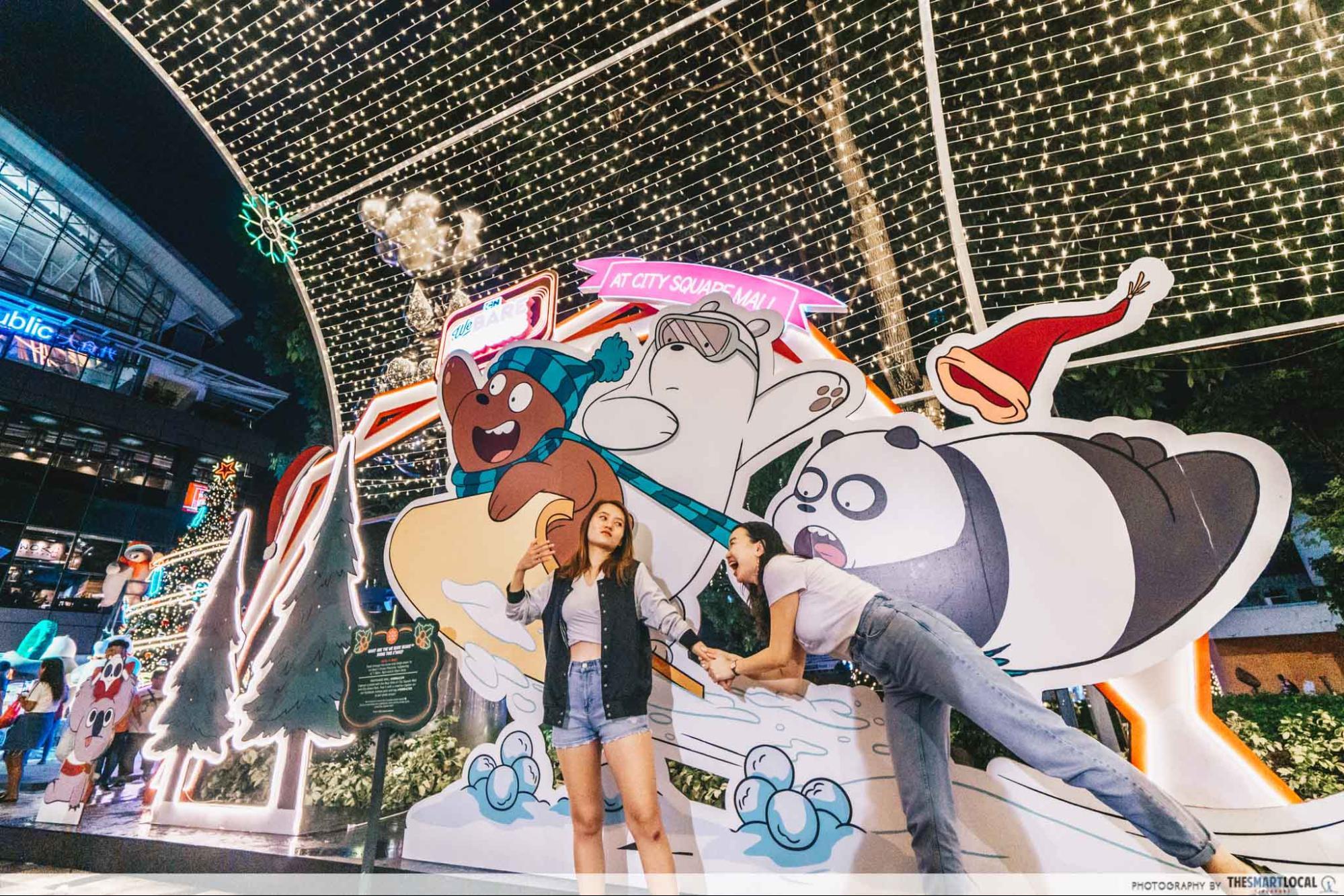 We Bare Bears Christmas Sledding City Square Mall