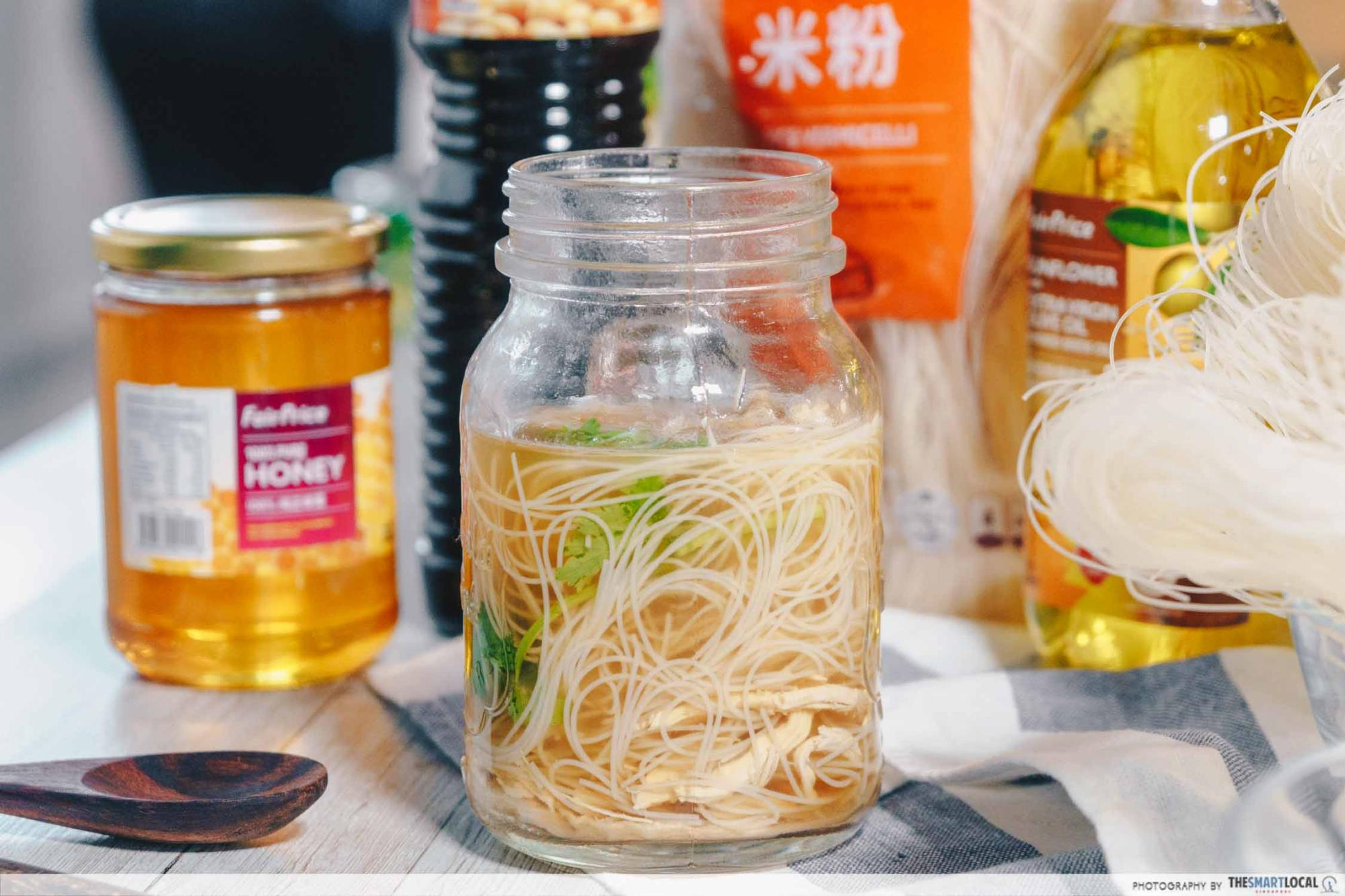 FairPrice house brand soy honey chicken vermicelli
