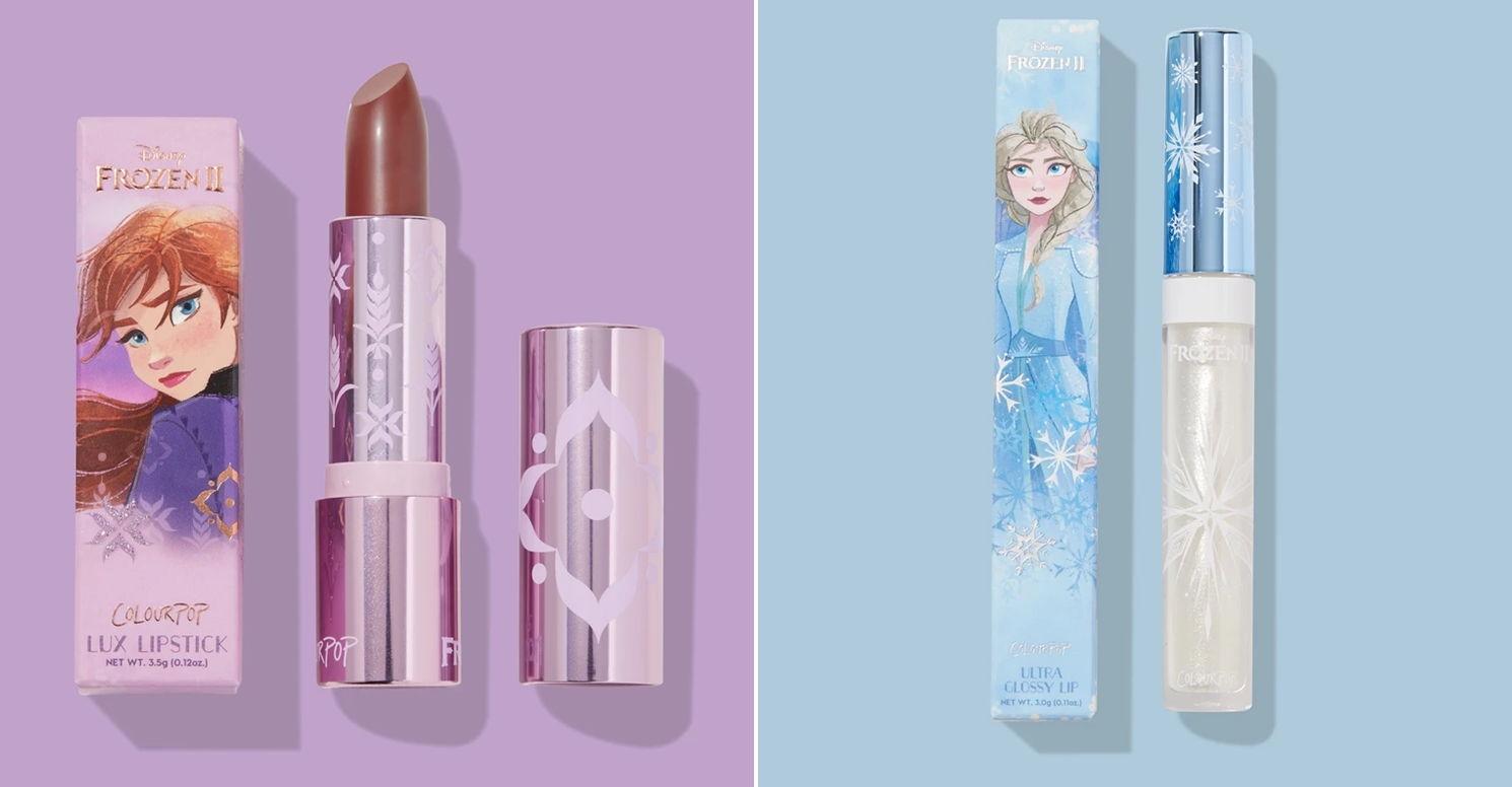 Frozen 2 ColourPop lipstick lipgloss