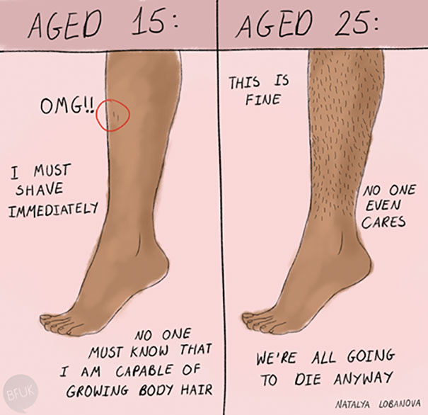 Girl Hairy Legs Shaving Struggles