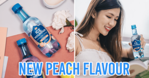 Ice Mountain Sparkling Water New Peach Flavour