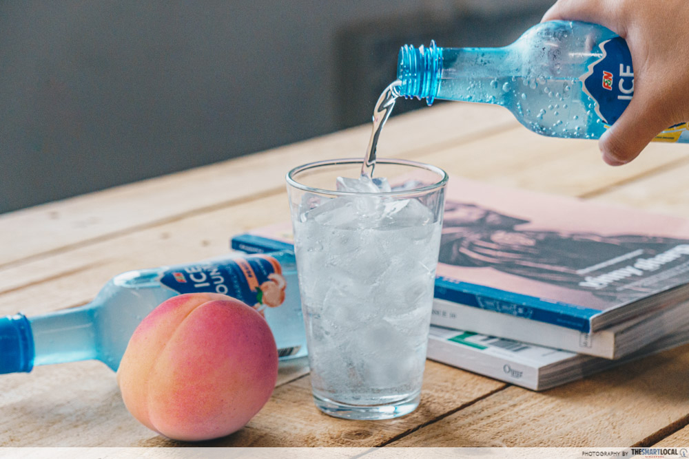 Ice Mountain Sparkling Water Peach Flavour No Sugar Added