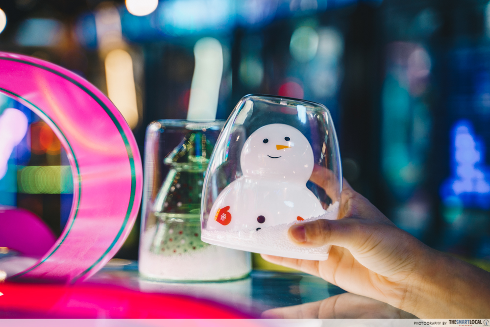 Kallang Wave Mall Double wall cup snowman