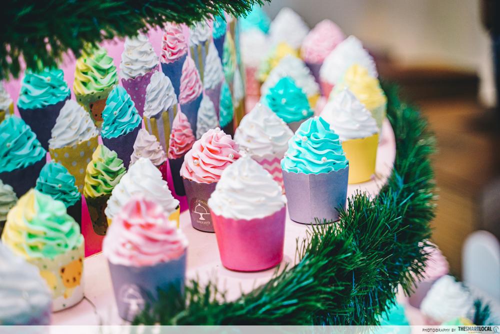 Kallang Wave Mall Christmas Cupcake Tree