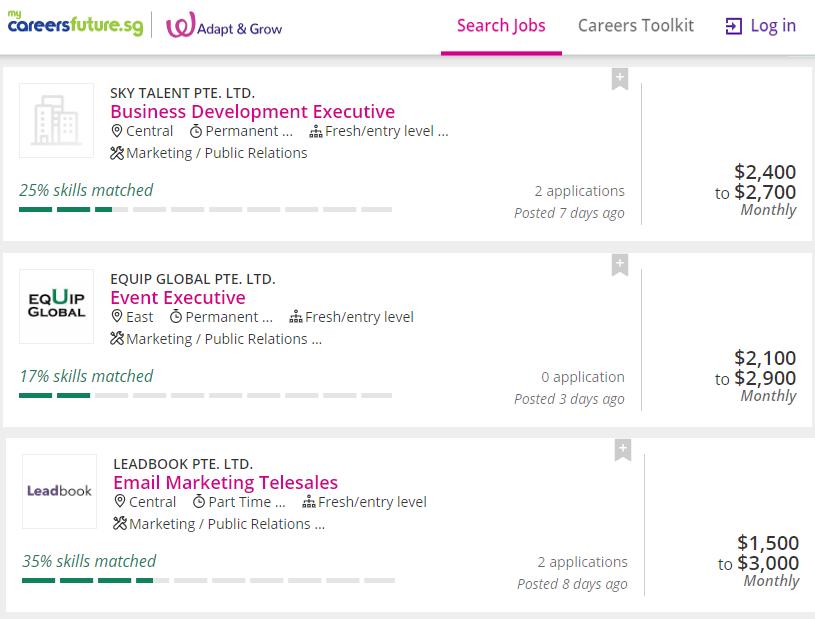 Skill Matching Percentage My Careers Future