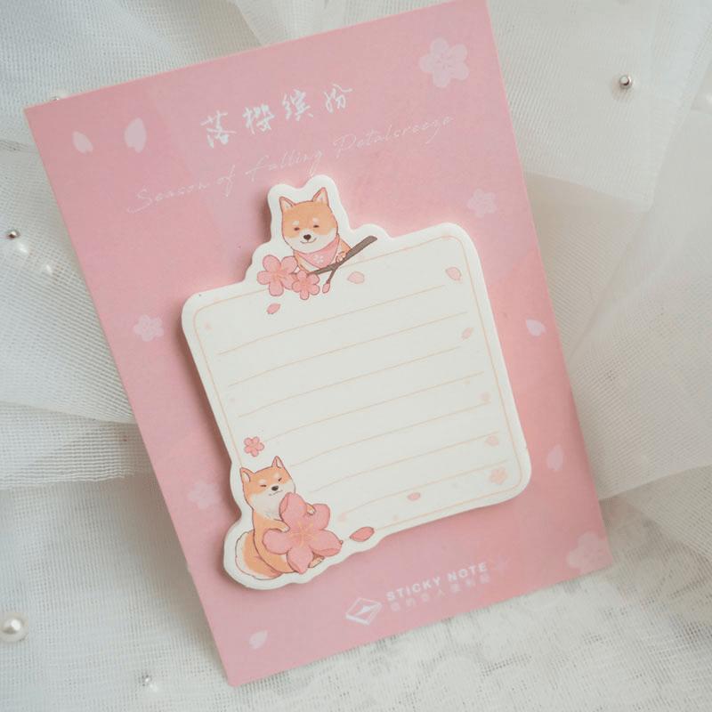 Shiba Inu Post It Notes Taobao Shopping Items