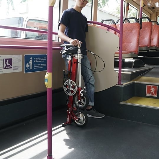 a carryme bike on singapore bus