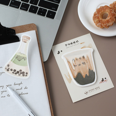 bubble tea sticky note pad