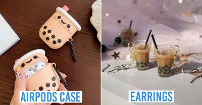 bubble tea themed items