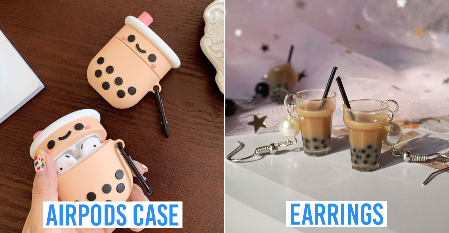 bubble tea themed items