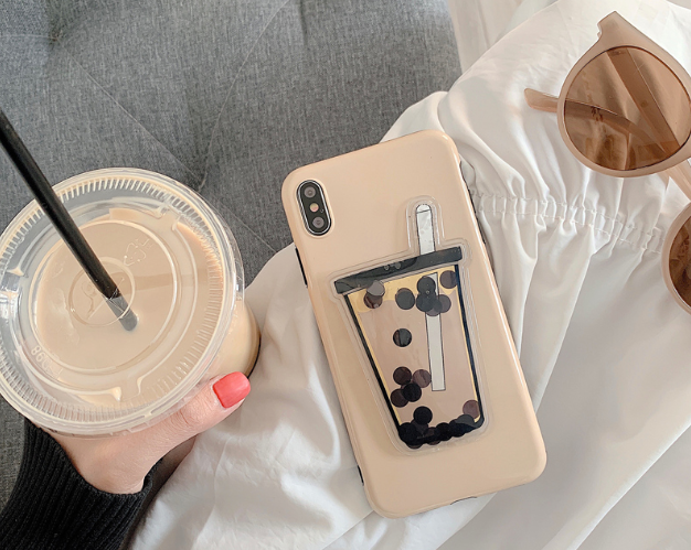 bubble tea phone case cover
