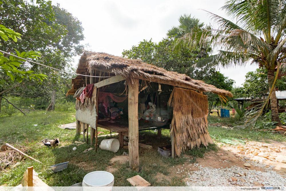 cambodia house charity hut