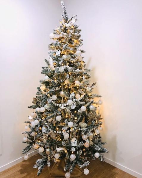 spotlight christmas tree