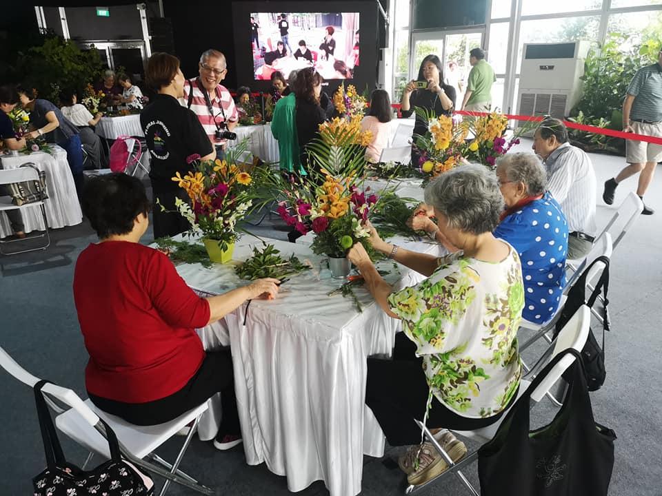 learning neighbourhood at geylang serai - floral jamming workshop by raffles int'l floristry academy
