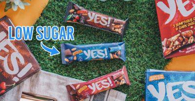 nestle yes bar - flat lay of yes bars