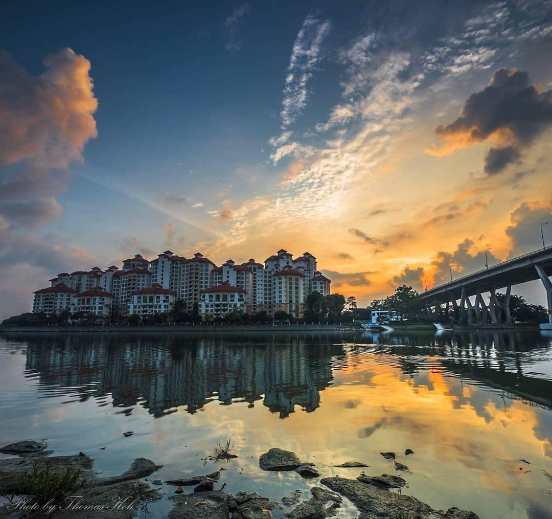 sunrise and sunset in singapore - tanjong rhu