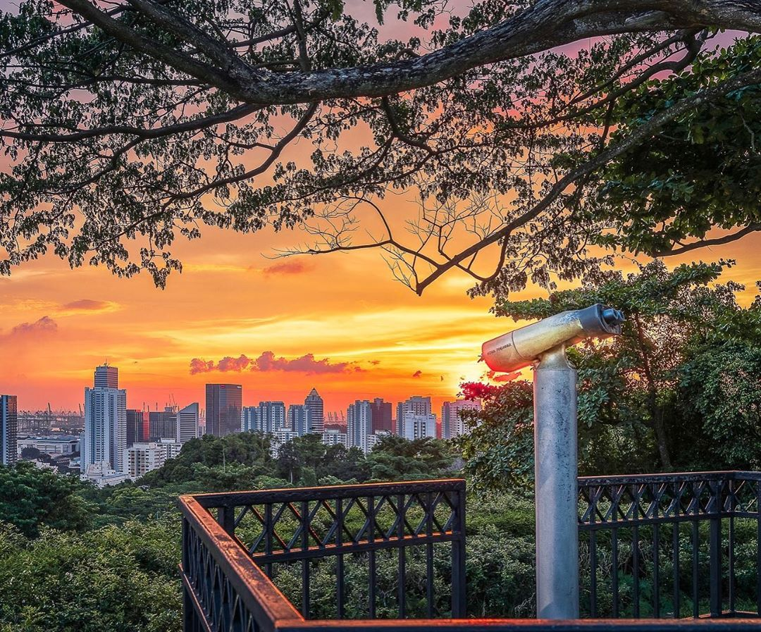 sunrise and sunset in singapore - mount faber lookout point