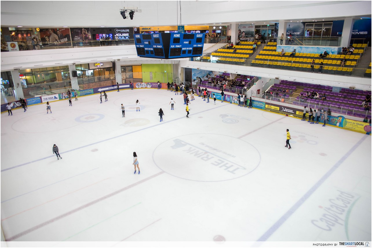 tengah estate - ice skating rink in jcube