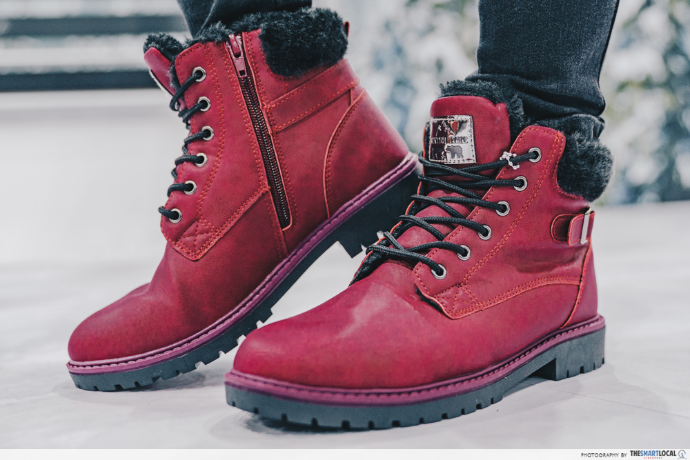 winter time final expo sale - winter boots in burgundy