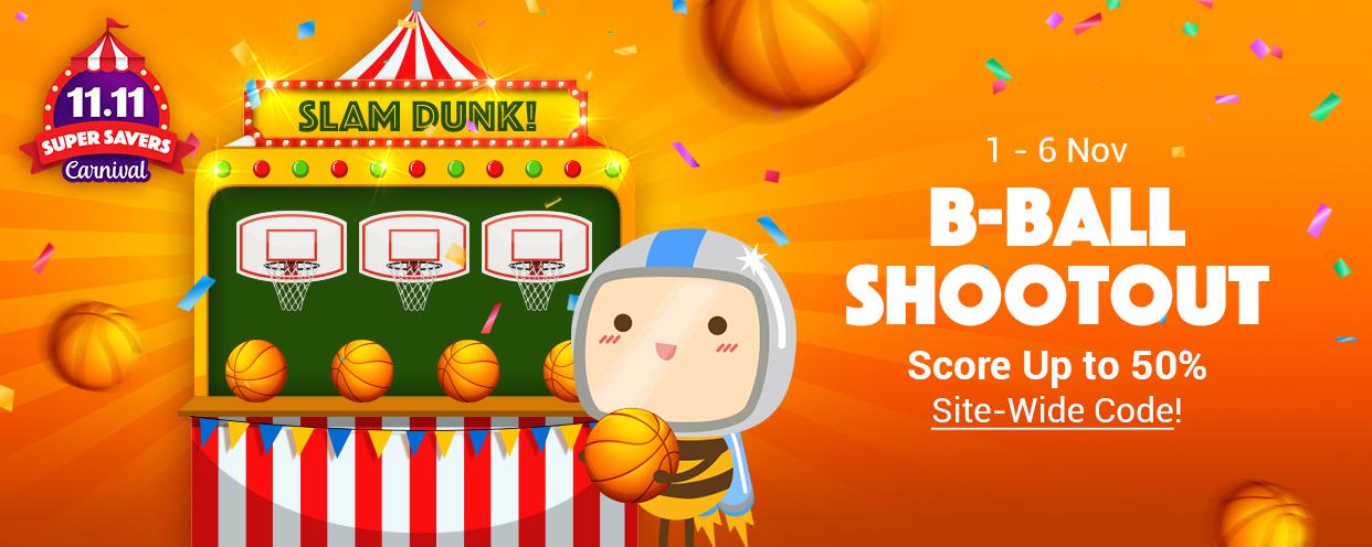 ezbuy 11.11 sale - b-ball shootout game