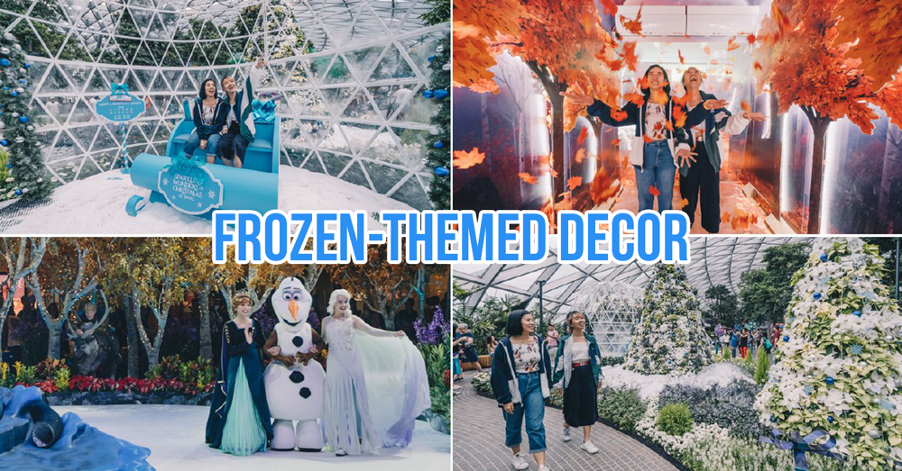 Frozen 2 Christmas decorations at Changi Airport and Jewel