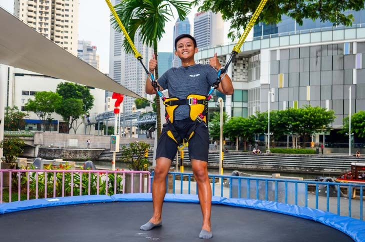 101 things to do in Singapore GX-5 Extreme Swing and Trampoline Bungy
