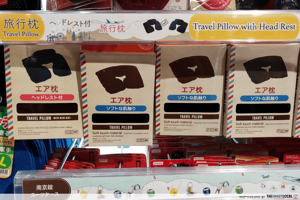 Travel Pillow Daiso Travel Items $2 Singapore