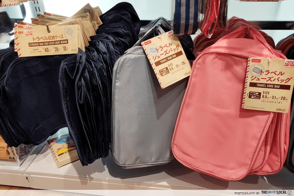 Shoe Bag Daiso Travel Items $2 Singapore