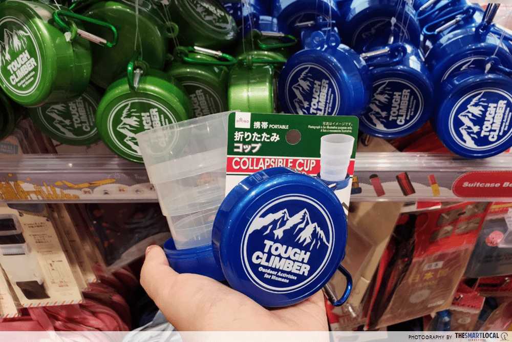 Collapsible Cup Daiso Travel Items $2 Singapore
