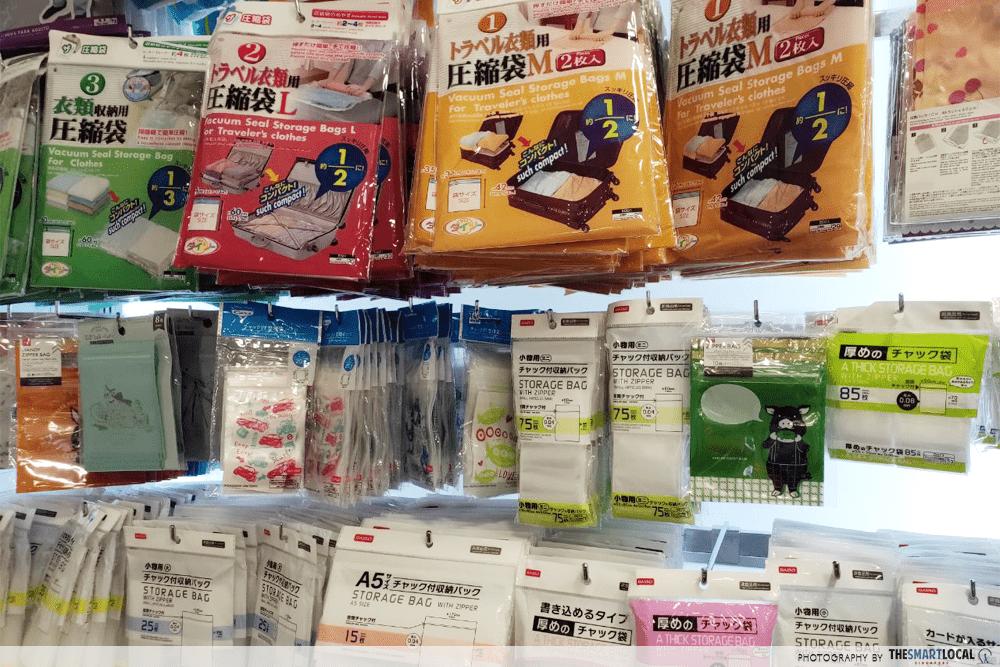 Vacuum Sealed Storage Bags Daiso Travel Items $2 Singapore
