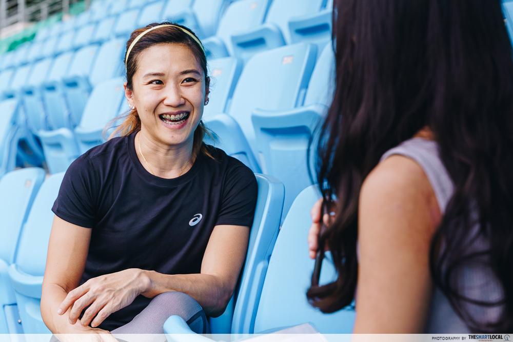 Rachel Yang Pole vaulting Deloitte
